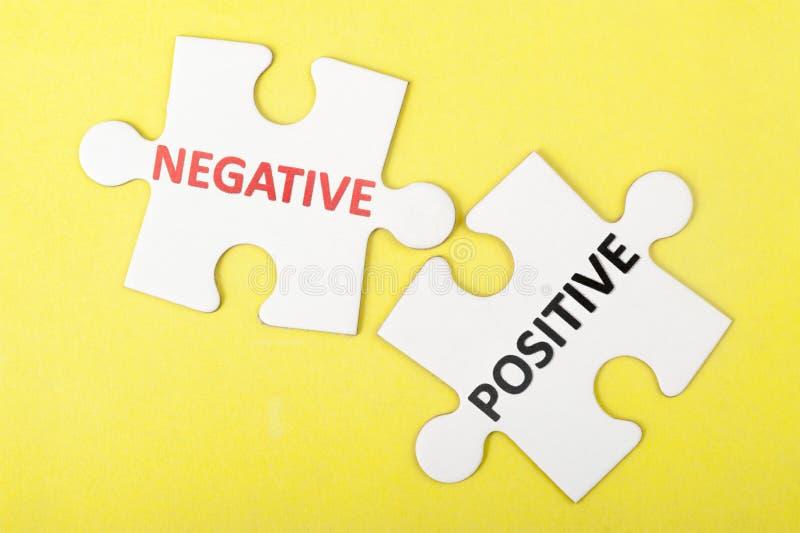 Negative versus positive royalty free stock photos