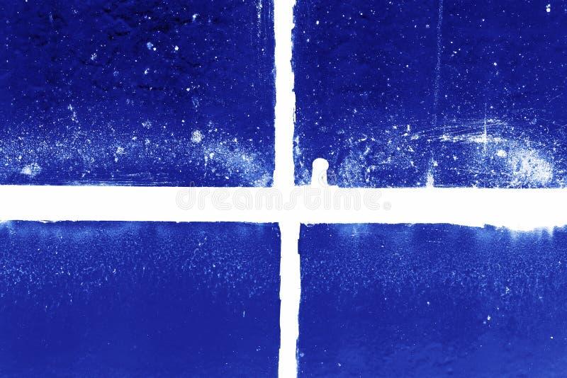 Negativer schmutziger alter Fensterrahmen lizenzfreies stockfoto