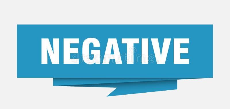 Negativo illustrazione vettoriale