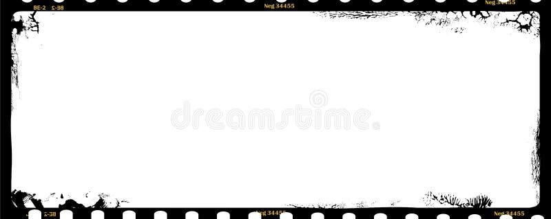 Negativo di film medio Grungy di formato illustrazione di stock