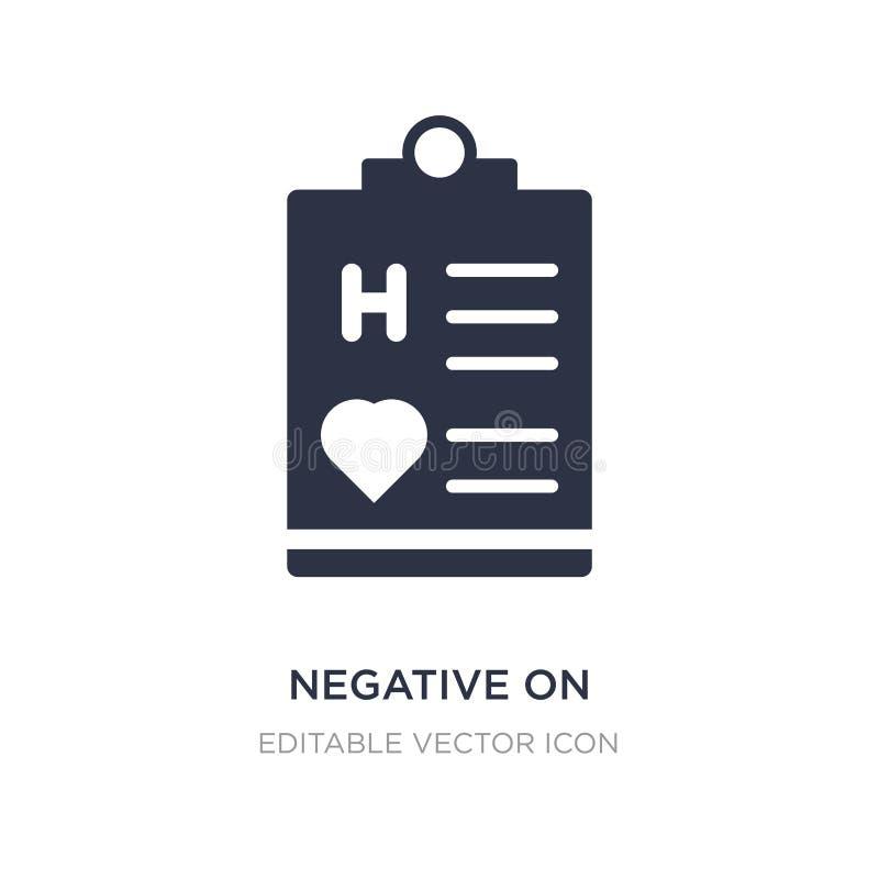 negatyw na medycznej schowek ikonie na białym tle Prosta element ilustracja od Medycznego pojęcia royalty ilustracja