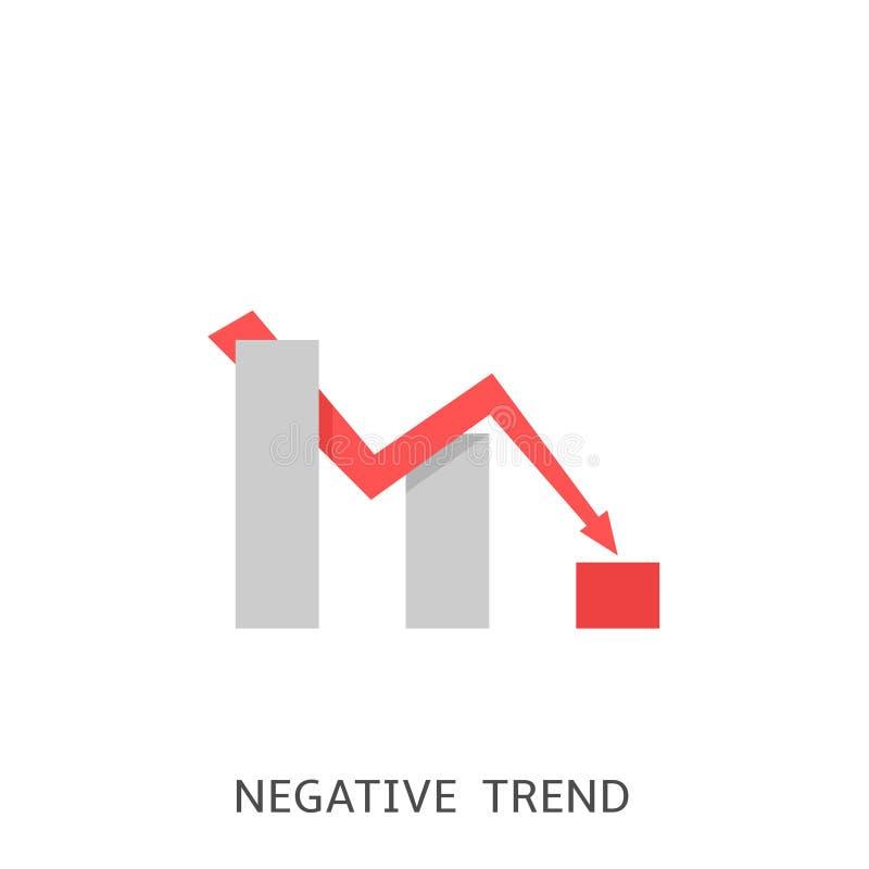 Negatywna trend ikona ilustracja wektor