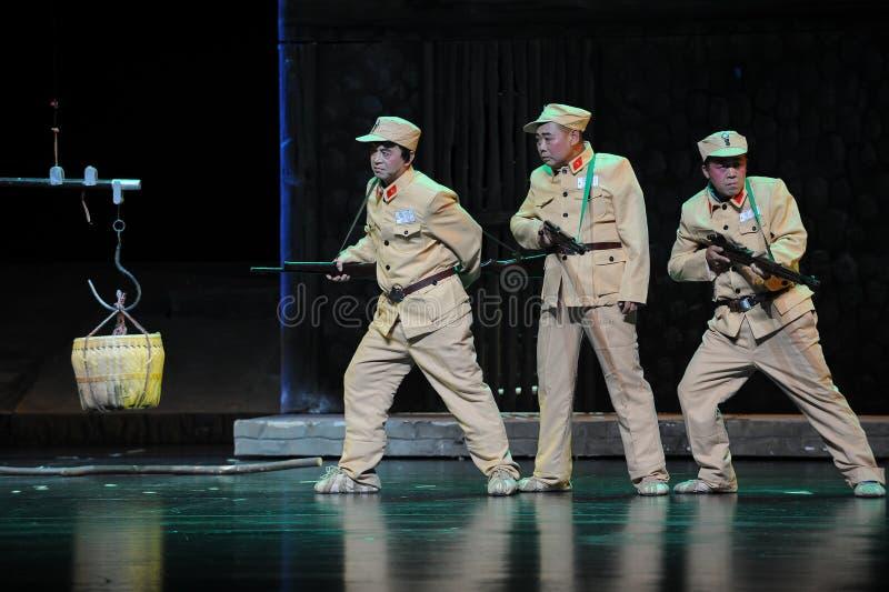 Negatywni wizerunki żołnierza Jiangxi opera bezmian obraz royalty free