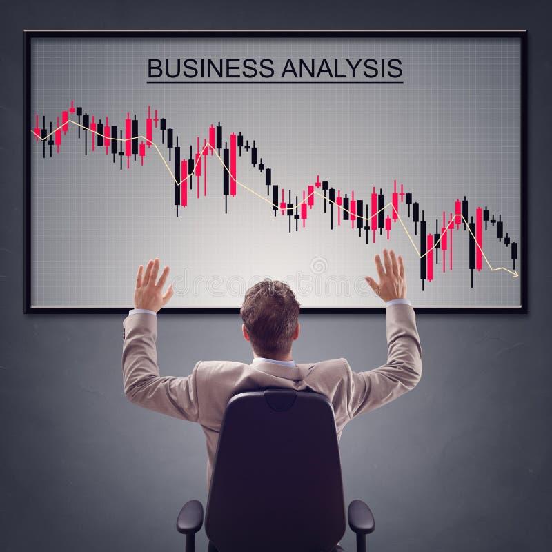 Negatywny biznesowy raport obrazy stock