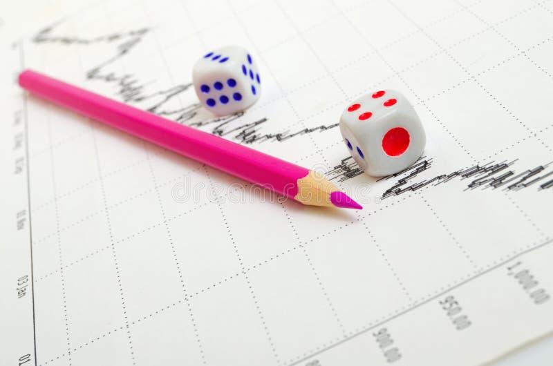 Negatywny rynku papierów wartościowych trend obraz stock