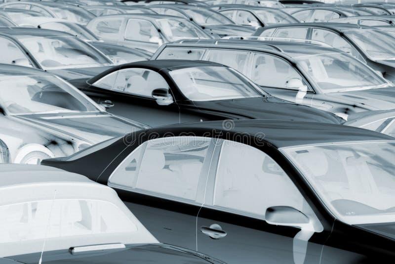 Negatywny wizerunek parkujący samochody zdjęcia royalty free