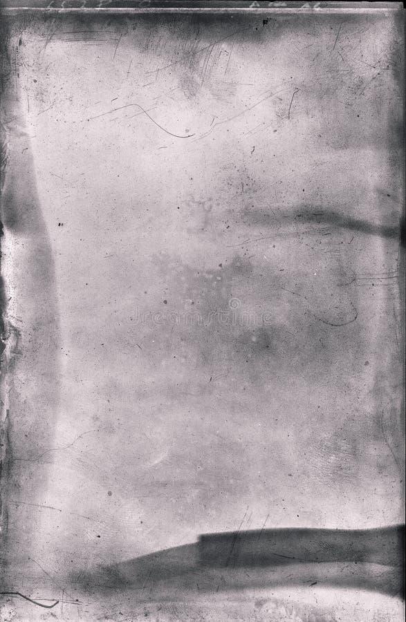 Negazione antica della lastra di vetro immagini stock libere da diritti