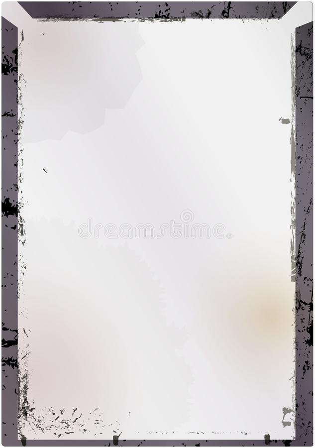 Negazione di ampio formato o fram di vetro d'annata vuota dell'immagine, stile di lerciume illustrazione di stock