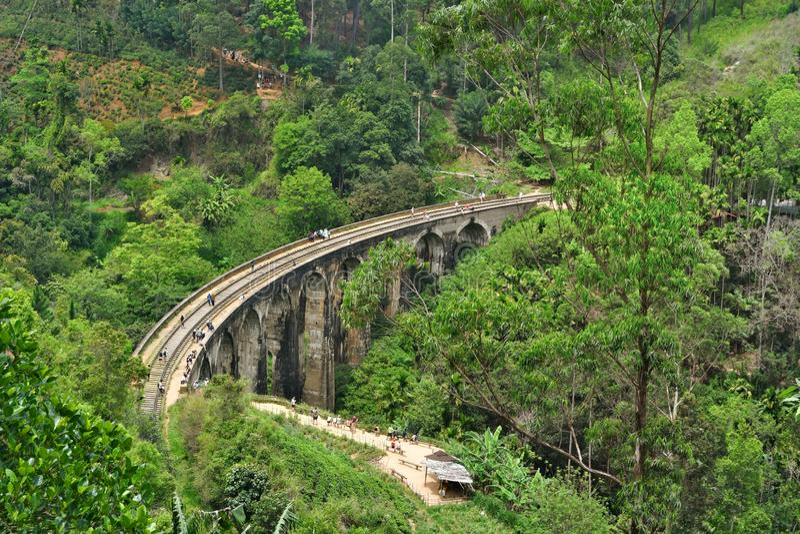 Negen Bogenbrug Sri Lanka royalty-vrije stock foto's