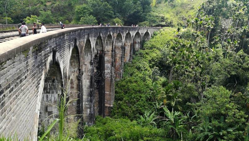 Negen Boogbrug in Sri Lanka stock foto's