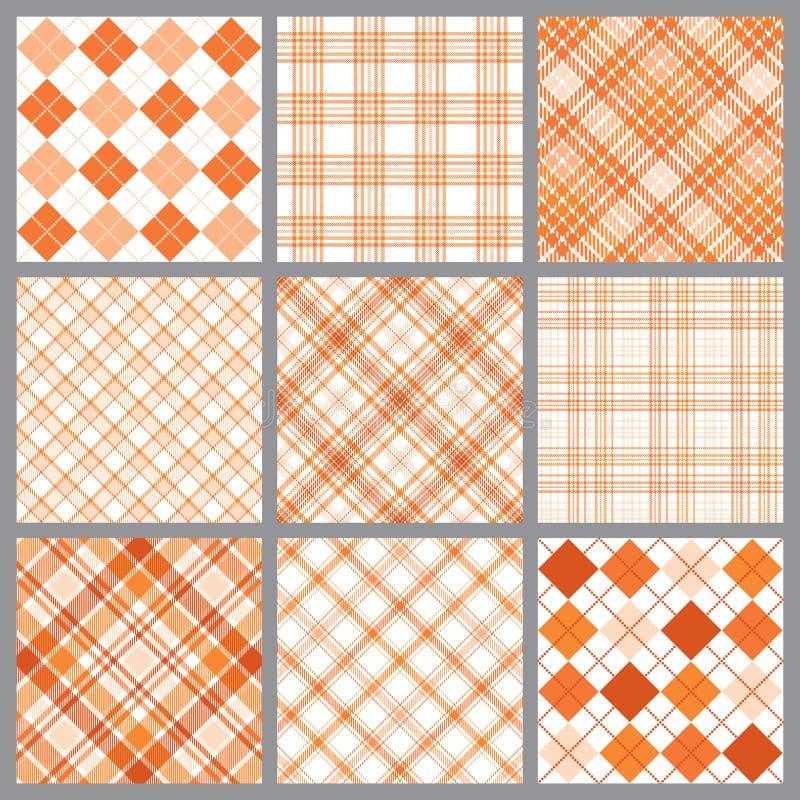 Negen Oranje Plaiden vector illustratie