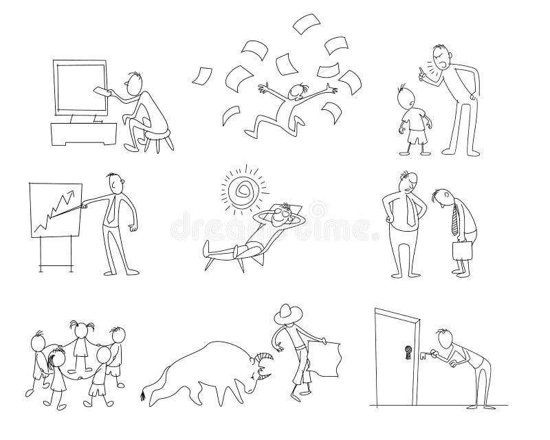Negen verschillende percelen stock illustratie