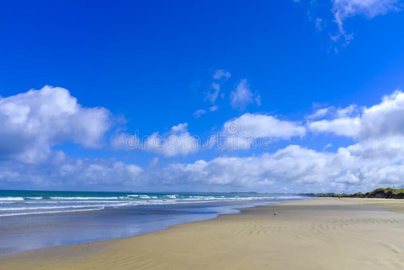 Negentig Mijlstrand in Nieuw Zeeland stock foto's