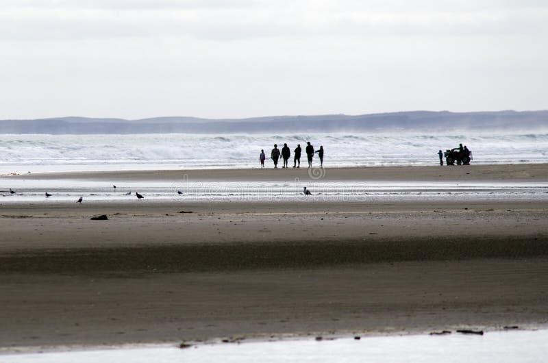 Negentig Mijlstrand - Nieuw Zeeland stock foto