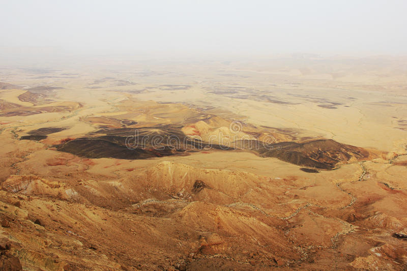 Negev desert and Ramon crater. stock photography