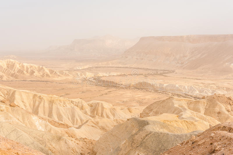 Negev desert. In southern part of Israel near Eilat royalty free stock photography