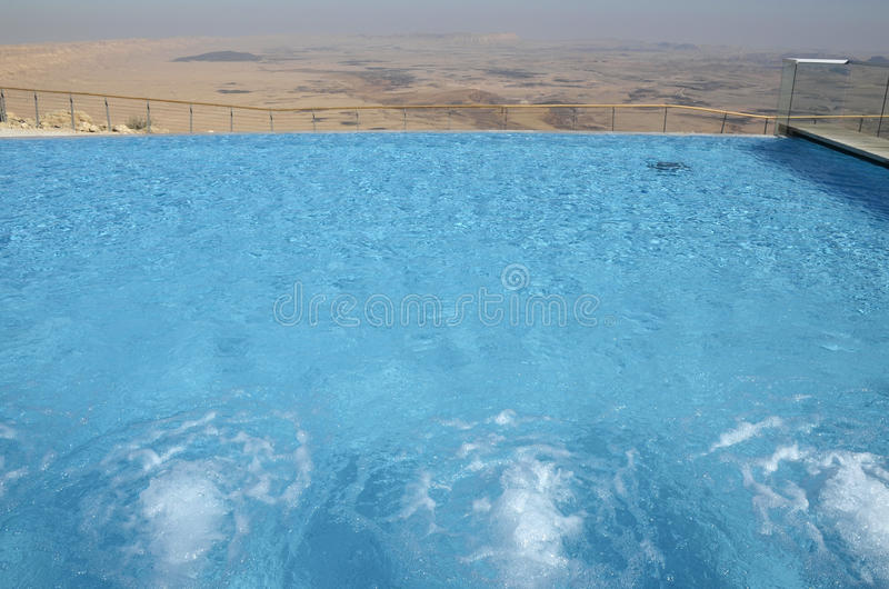 negev pustynny hotelowy basen obrazy stock