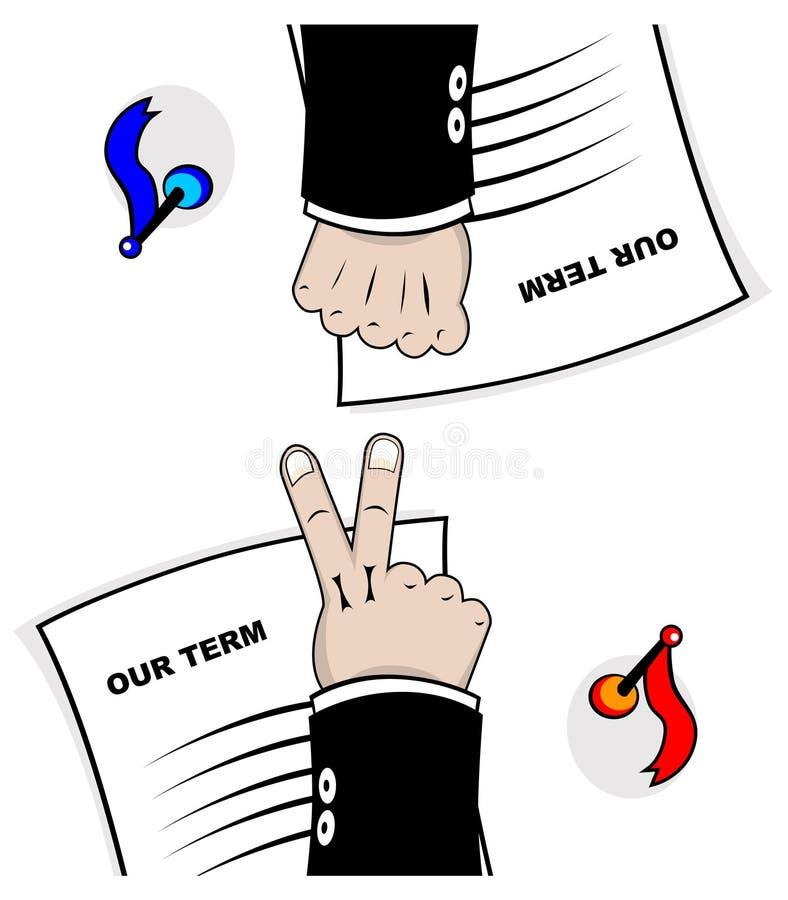 Negociação ilustração royalty free