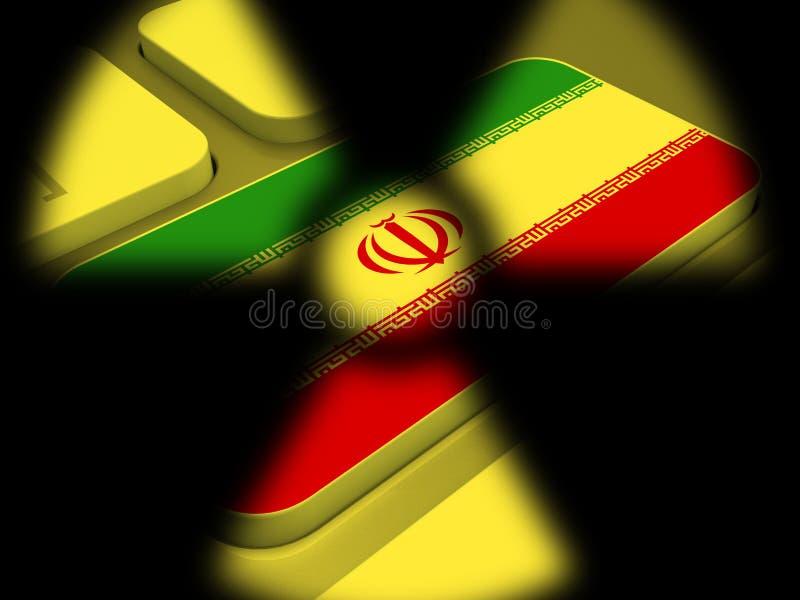 Negociação ou negociações nucleares do negócio de Irã com EUA - 2d ilustração ilustração stock