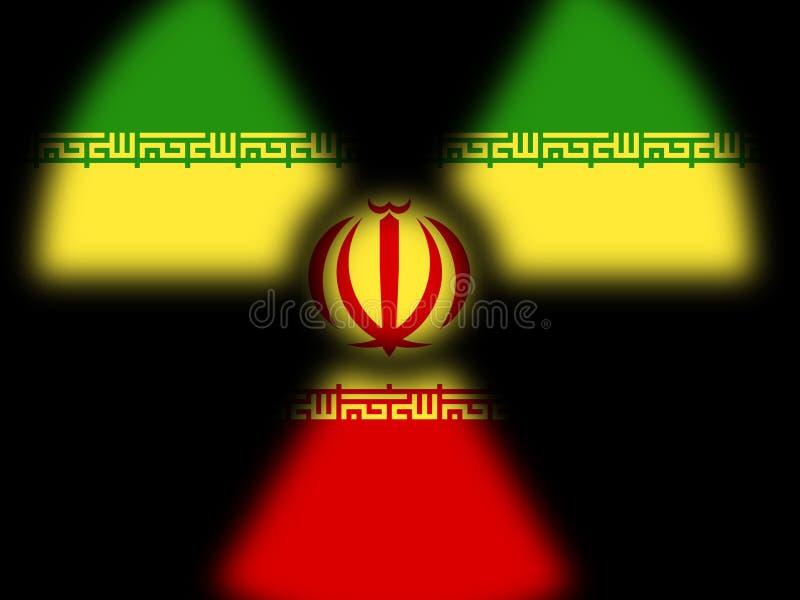 Negociação ou negociações nucleares do negócio de Irã com EUA - 2d ilustração ilustração do vetor