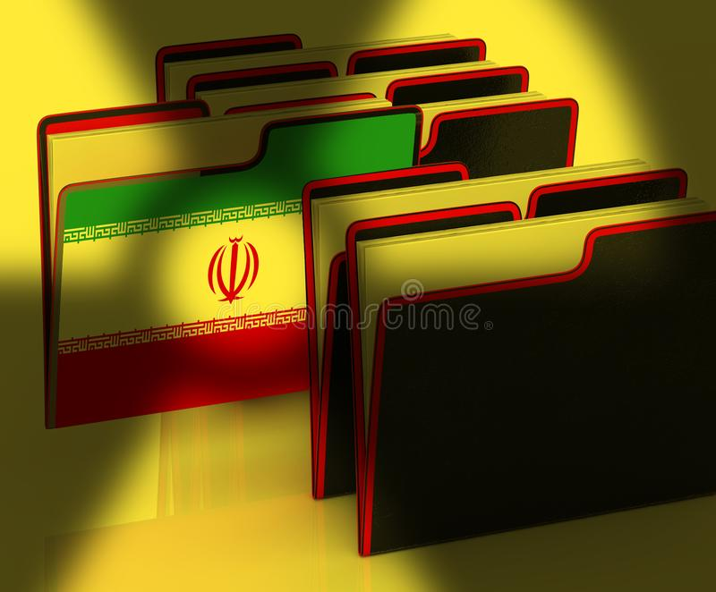 Negociação ou negociações nucleares do negócio de Irã com EUA - ilustração 3d ilustração do vetor