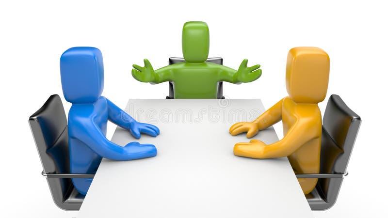 Negociações ilustração do vetor