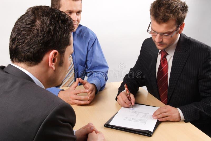 Negociações foto de stock