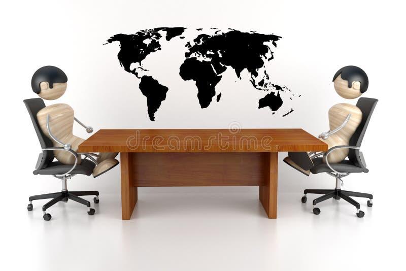 Negociações ilustração royalty free
