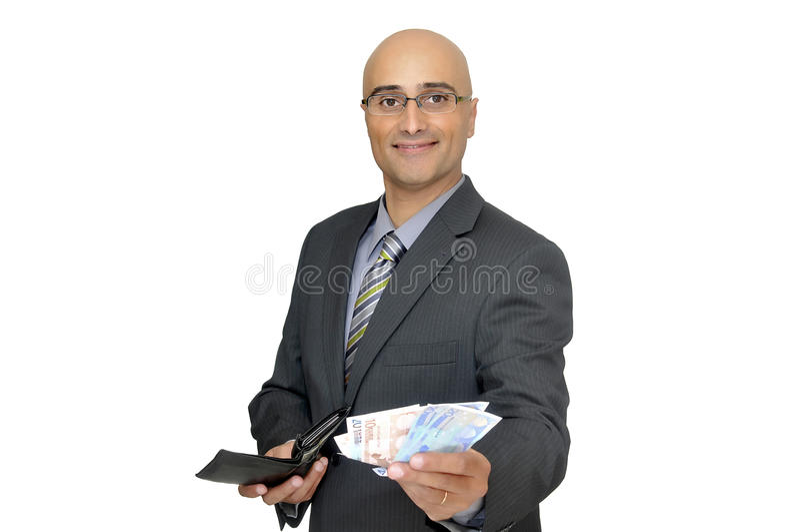Negociações do dinheiro imagem de stock