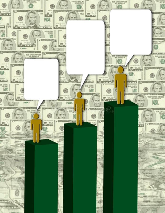 Negociações do dinheiro ilustração royalty free