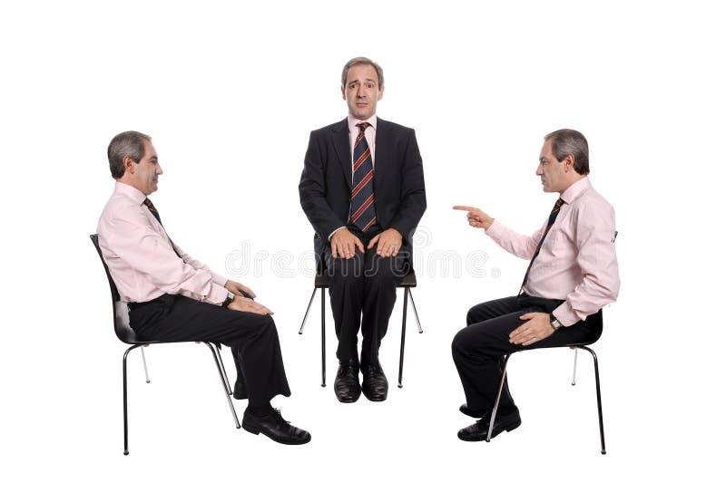 Negociaciones del asunto imagen de archivo