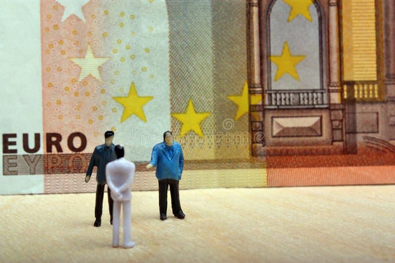 Negociaciones del negocio en Europa imagenes de archivo