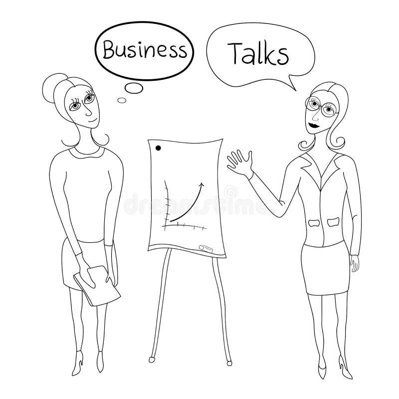 Negociaciones del negocio, mujeres de negocios en negocio libre illustration