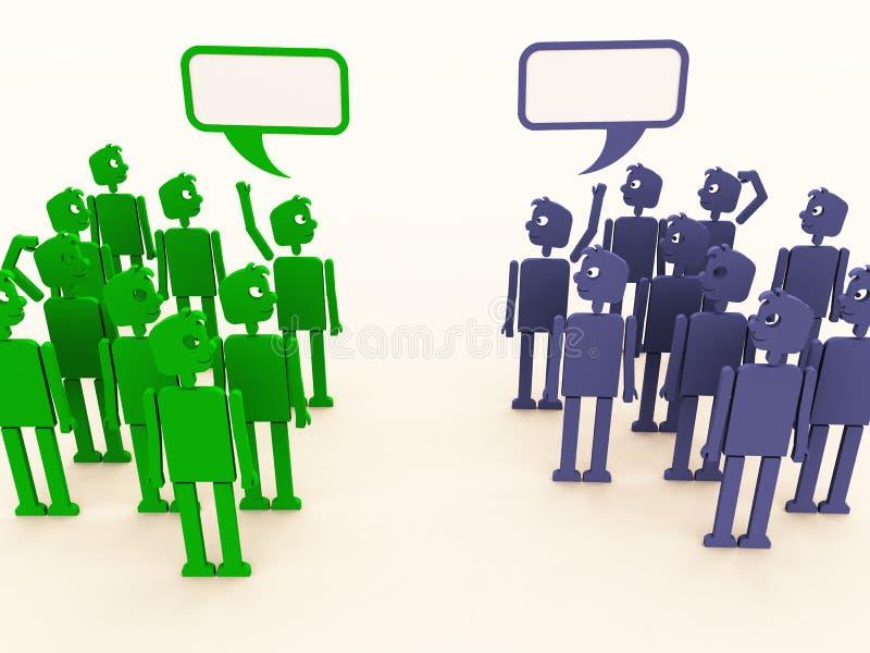 Negociaciones diversas ilustración del vector