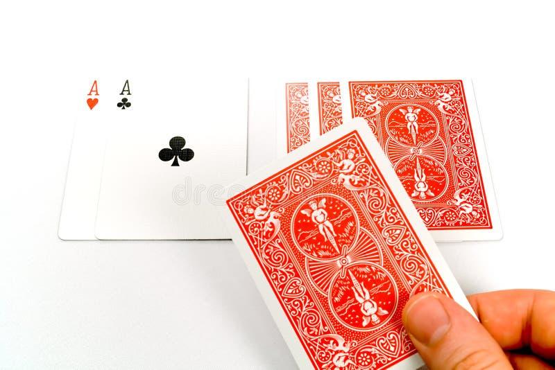 Negociando o póquer de parafuso prisioneiro foto de stock royalty free