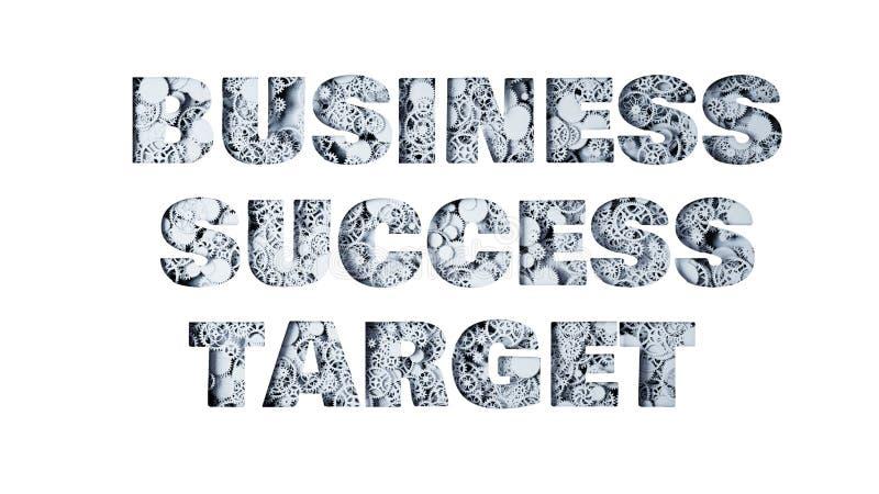 Negocio, éxito, blanco de los engranajes representación 3d ilustración del vector
