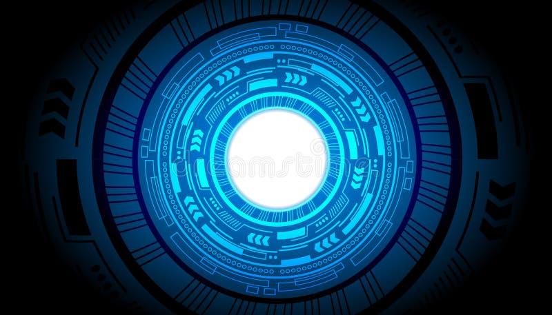 Negocio abstracto futuro de la tecnología del vector del fondo del poder del hud del interfaz de la tecnología stock de ilustración