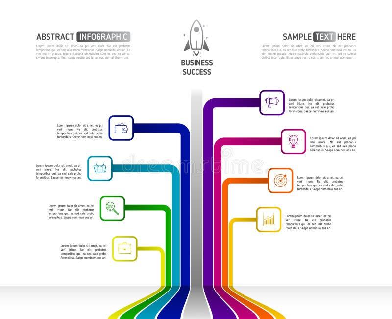 Negocio abstracto Infographics en forma del árbol Árbol w infographic ilustración del vector