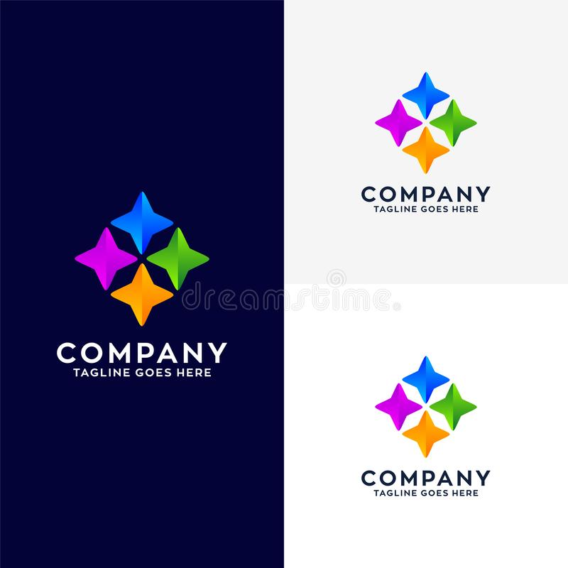 Negocio abstracto Logo Design libre illustration