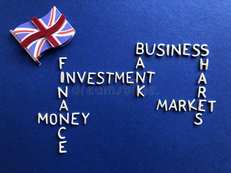 Negocio, actividades bancarias y finanzas británicos, concepto creativo fotografía de archivo libre de regalías
