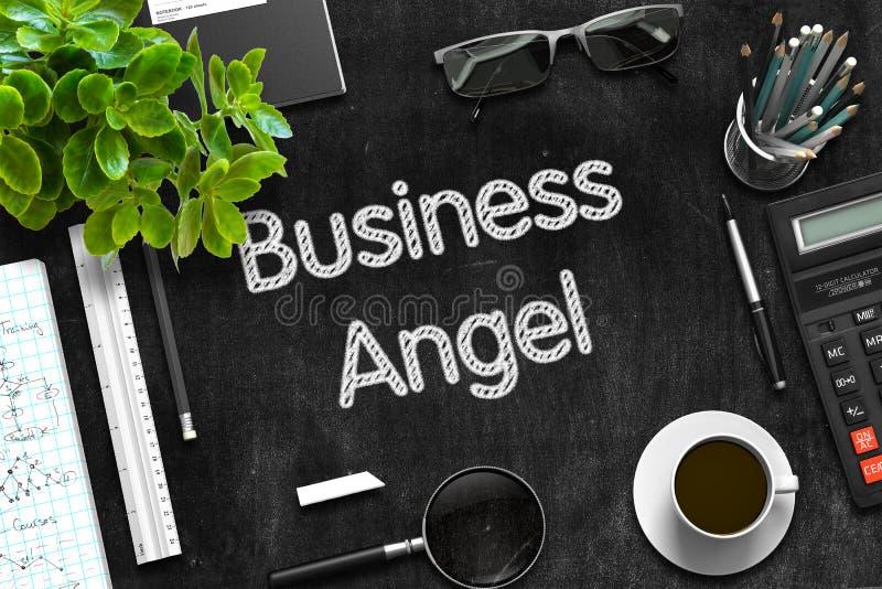 Negocio Angel Concept en la pizarra negra representación 3d imagen de archivo