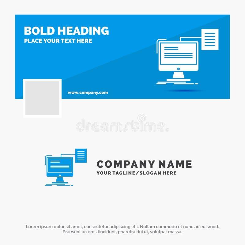 Negocio azul Logo Template para el curriculum vitae, almacenamiento, impresión, cv, documento r Bandera del Web del vector libre illustration