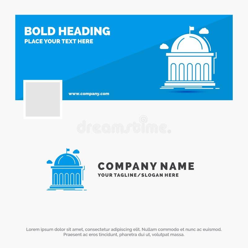 Negocio azul Logo Template para la biblioteca, escuela, educación, aprendiendo, universidad r Web del vector stock de ilustración