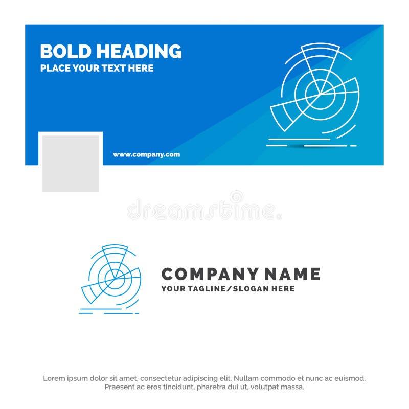 Negocio azul Logo Template para los datos, diagrama, funcionamiento, punto, referencia r Bandera del Web del vector ilustración del vector