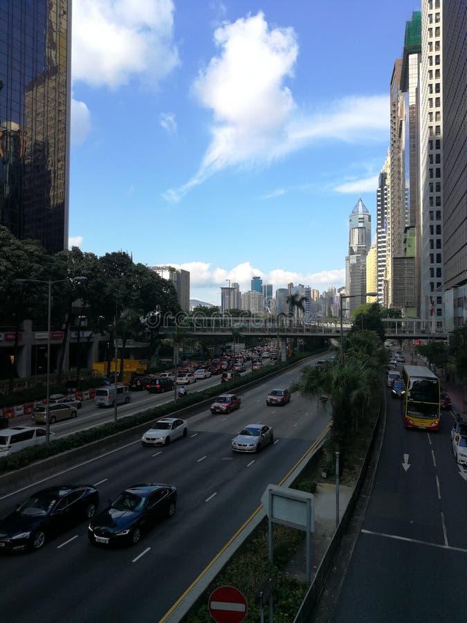 Negocio céntrico en Hong-Kong fotos de archivo