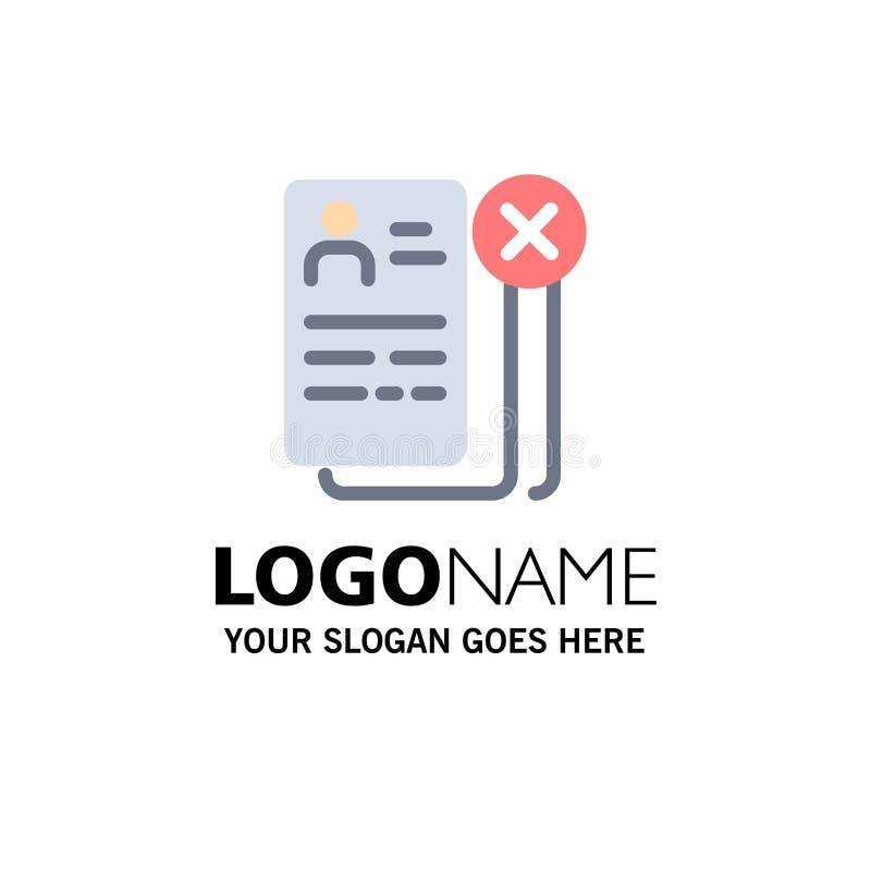 Negocio, carrera, Cv, trabajo, negocio Logo Template del curriculum vitae color plano ilustración del vector