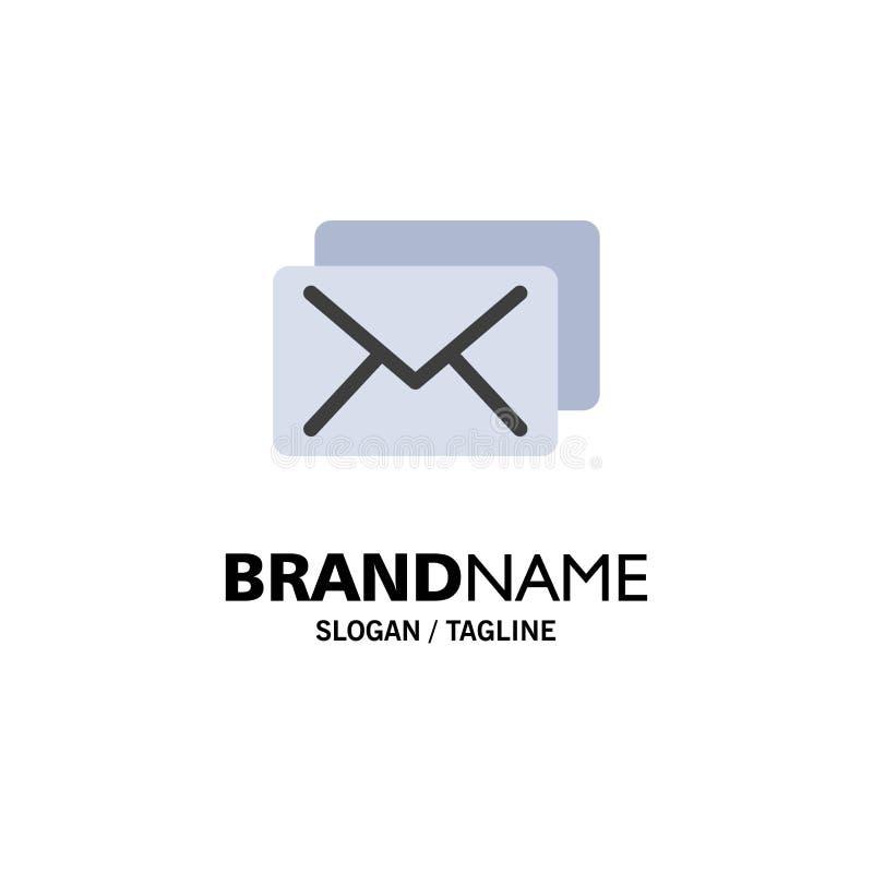 Negocio, correo, negocio Logo Template del mensaje color plano ilustración del vector