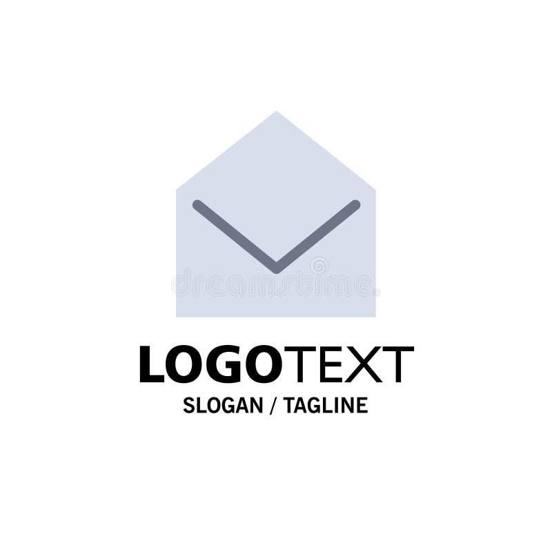 Negocio, correo, mensaje, negocio abierto Logo Template color plano libre illustration