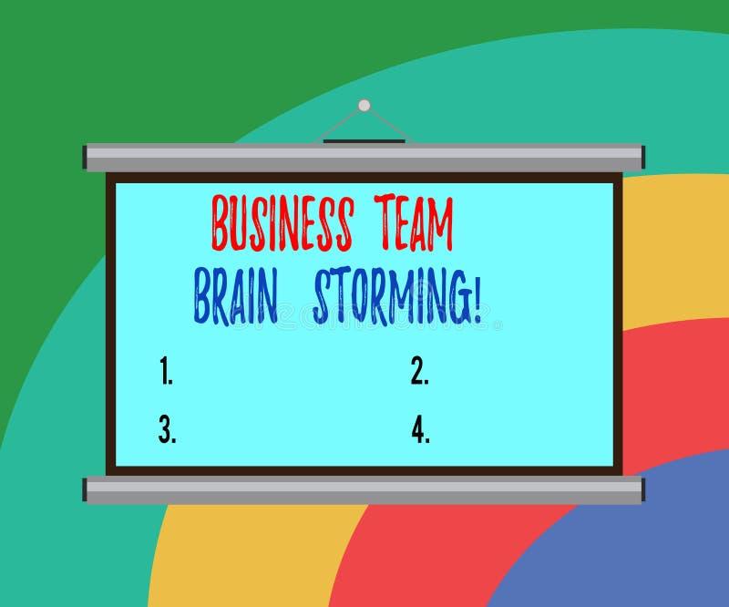 Negocio de demostración conceptual de la escritura de la mano Team Brain Storming Reunión de funcionamiento del grupo de sociedad stock de ilustración