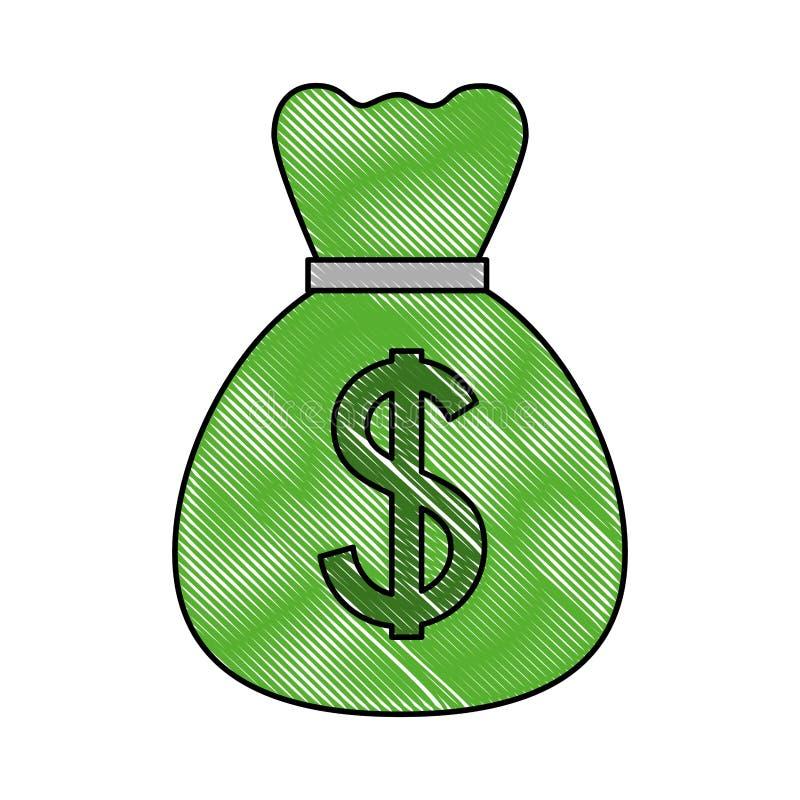 Negocio de dinero del dólar del bolso del dinero stock de ilustración